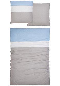 Ložní prádlo , my home Selection, »Home«, se dvěma barevnými pruhy