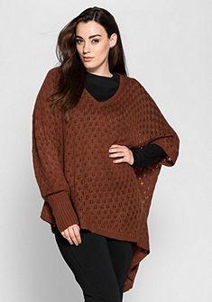 sheego Style poncsó fazonú pulóver