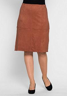 sheego Style Koženková sukňa