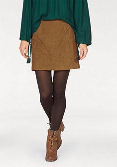 Aniston sukňa z umelej kože