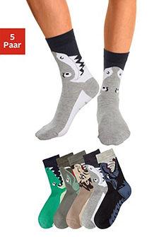 Ponožky (5 párů) s motivy zvířat