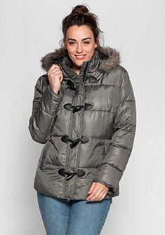 sheego Casual Prošívaná bunda, kapuce s umělou kožešinou