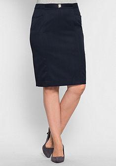 sheego Class Pouzdrová sukně s vlnou