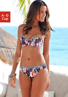 Merevítős bandeau bikini felső, sunseeker