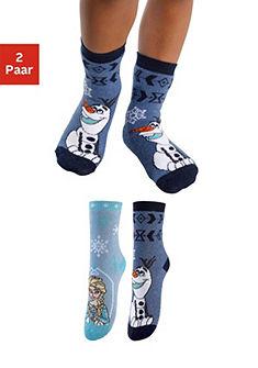 Frozen Dětské ponožky (2 páry) s různými motivy