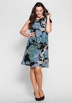 sheego Style Šaty s vodopádovým výstřihem