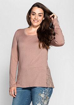 sheego Style pulóver csipkével