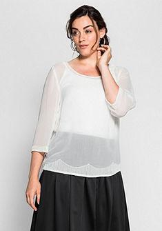 sheego Style Tunika s ozdobnými korálky