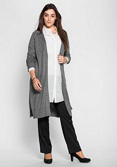 sheego Class Pletený svetr v prodlouženém střihu