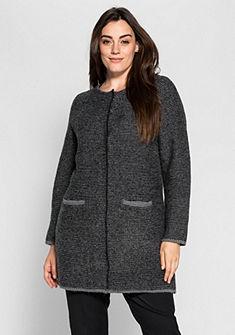 sheego Class Dlouhý pletený svetr se stojáčkem
