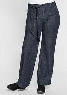sheego Denim Elastické džíny s páskem