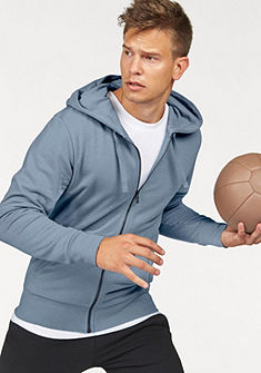 adidas Performance Mikina s kapucňou »ESSENTIALS LINEAR FULLZIP HOOD FRENCH TERRY«