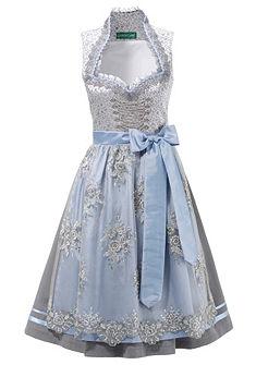 Country Line Dirndl midi ruha dekoratív nyaklánc fűzéssel