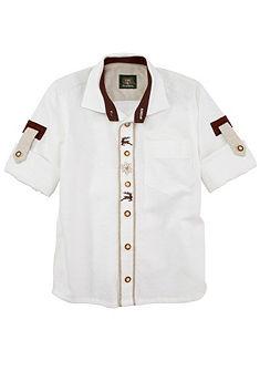 OS-Trachten Dětská krojová košile v lněném vzhledu