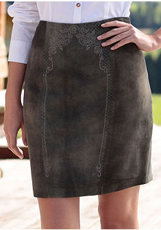 Spieth & Wensky női népviseleti bőrszoknya koptatott hatású