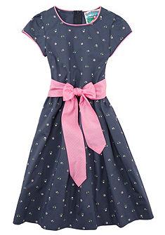 Turi Landhaus Krojové šaty detské s kvetinovou potlačou