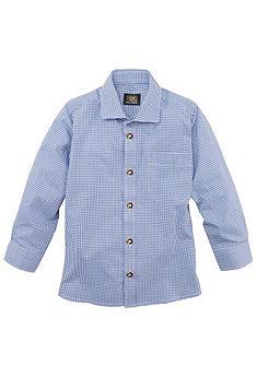 OS-Trachten Dětská krojová košile v károvaném designu