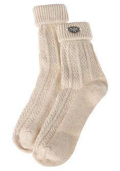 Lusana Detské ponožky s pleteným vzorom