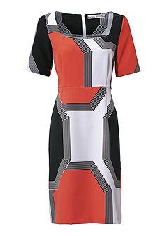ASHLEY BROOKE by Heine alakformáló nyomott mintás ruha grafikus hatású