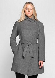 sheego Style Krátky kabát v asymetrickom strihu
