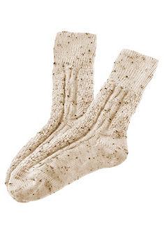 Lusana Dětské ponožky s pleteným vzorem