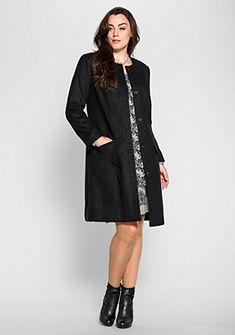 sheego Style Krátky kabát s trblietavé kamienky