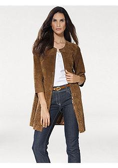 ASHLEY BROOKE by heine Kožený kabát, bravčová koža s laserovým rezom