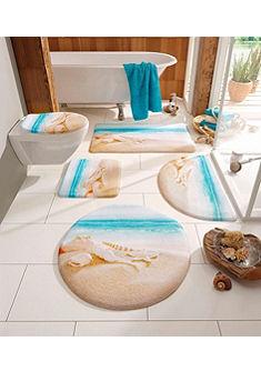 Koupelnová předložka, my home selection, před standardní WC »Strand«, výška 14 mm, paměťová pěna