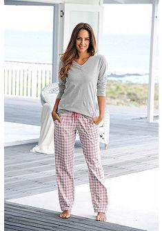 Arizona pyžamo s dlouhým rukávem a károvanými kalhotami