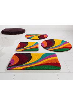 Fürdőszobaszőnyeg,3 részes álló Wc szett, Bruno Banani, »Welle«, magasság 20mm