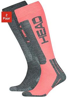 Head Lyžiarske ponožky (2 páry) s vlnou a polstrovaným chodidlom