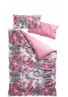Obojstranná posteľná bielizeň, My Home Selection »Flower« s kvetinovou potlačou