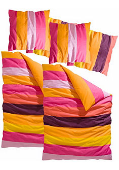 my home ágynemű »Bura«, vastag színes csíkozással