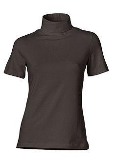 Garbó nyakú póló, rövidujjas fazon