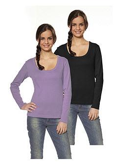Tričko s dlhými rukávmi 2ks