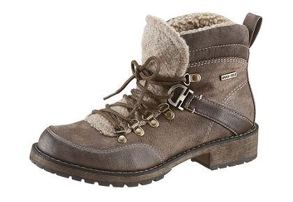 Fűzős, magas szárú cipő, Tamaris