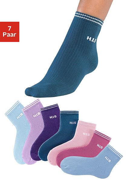 Dámské krátké ponožky, H.I.S (7 párů)