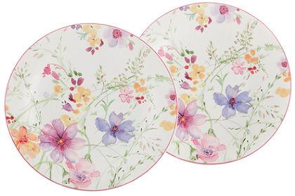 Veľký tanier, Villeroy & Boch »kvetinový dekor« (2 ks)