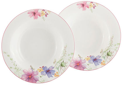 Polévkový talíř, Villeroy & Boch »květinový dekor« (2 ks)