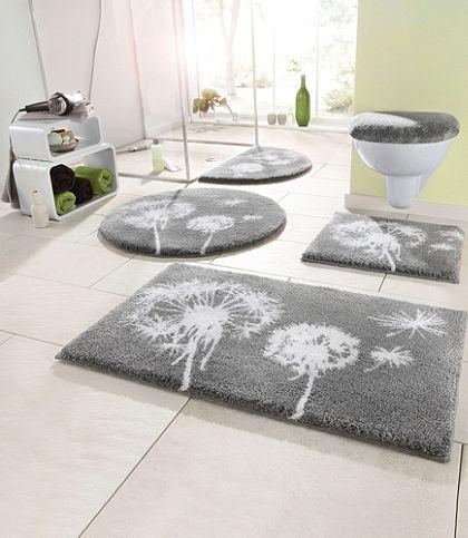 Fürdőszobaszőnyeg, Grund, »pitypang«, magasság 20mm, csúszásgátló hátoldallal