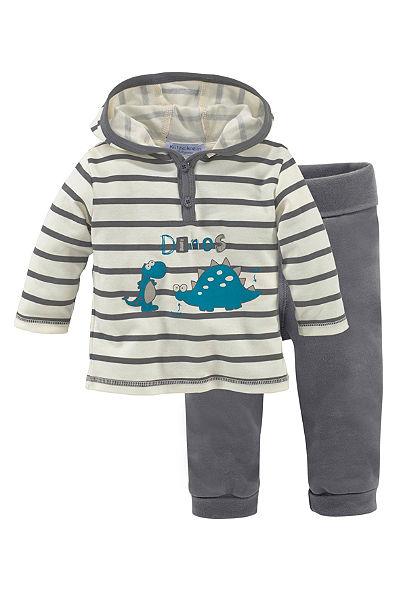 Klitzeklein póló & nadrág csíkos és nyomott mintás (szett, 2 részes), babáknak