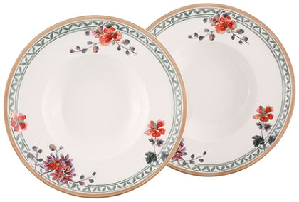 Hlboký tanier v 2-dielnej súprave, Villeroy & Boch »kvetinový dekor«