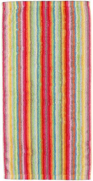 Szaunatörölköző, Cawö, »Lifestyle csíkos«, színes csíkokkal