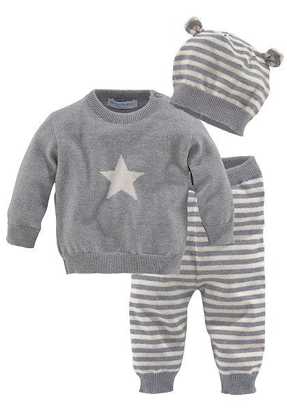 Klitzeklein Pulovr, kalhoty a čepice, pro miminka