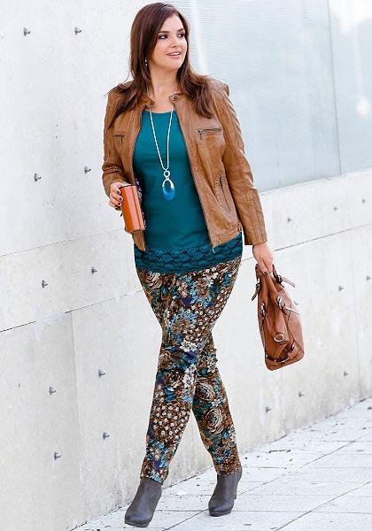sheego Style Kalhoty s potiskem