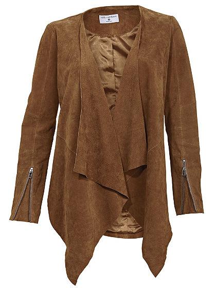 Kožená bunda, velúrová bravčová koža
