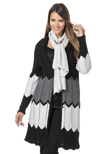 Dlhý sveter a šál, sheego Style