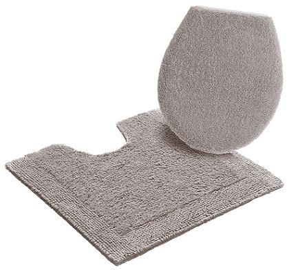 Fürdőszobaszőnyeg, álló WC szett, Ecorepublic Home, »Kapra«, kétoldalas,bio pamutból