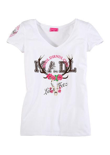 Krojové tričko s výšivkou a potlačou, Krüger Madl