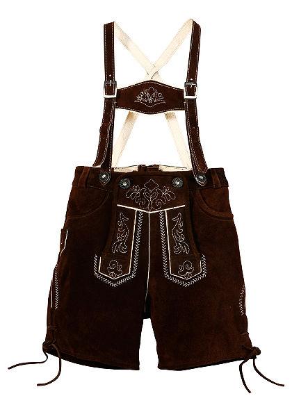 Detské kožené nohavice s výšivkou, Marjo